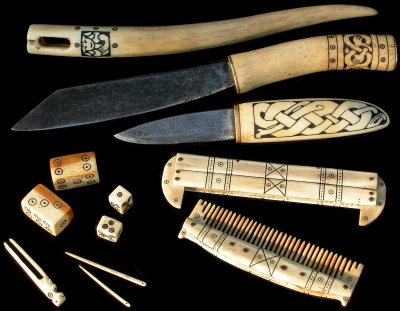 Reproductions Of Viking Style Bone And Antler Artefacts