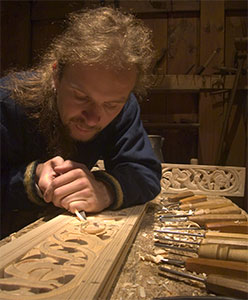 Viking woodcarver