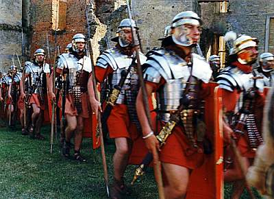 Roman Army invading Britain