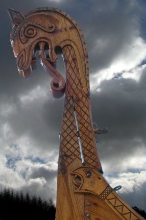Viking ships often had Dragons heads mounted on the bow to scare off sea monsters