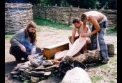 An Iron Age Celtic bronze casting demonstration.  Roman, Saxon and Viking crafts can also be demonstrated